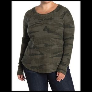 Sweet Romeo Cozy Thermal Pullover Top